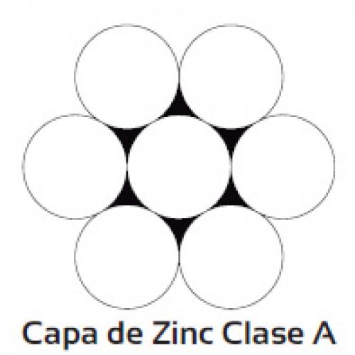 Cable acero galvanizado alta resistencia 1 x 7 hs (tipo torón)